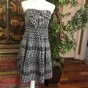 Eva Franco Black Silver Dress Anthropologie Sz 12